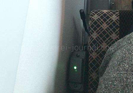 長時間の長旅になるため、座席にUSB充電があります。