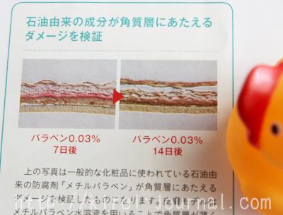 メチルパラベンが肌に与える悪影響